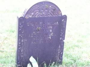 Charles Olson's tombstone, Gloucester