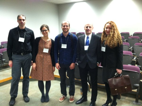 "The ""Against Progress"" pastoral roundtable crew: Nicholas Hoffman, Megan Cook, Will Rhodes, David Hadbawnik, Melissa J. Rack"
